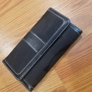 Faux Coach Wallet , with Checkbook cover